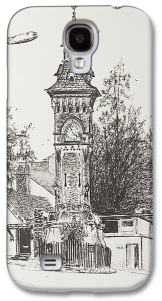 Clock Tower  Hay On Wye Galaxy S4 Case by Vincent Alexander Booth