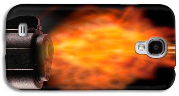 Close-up Of A Gun Firing A Bullet Galaxy S4 Case by Panoramic Images