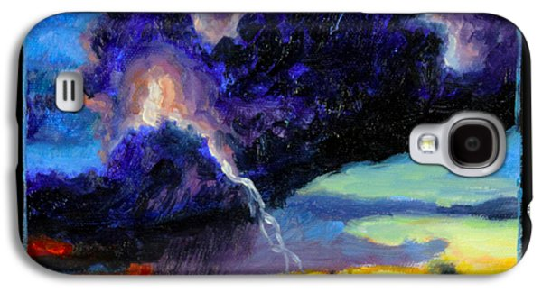 Thunder Paintings Galaxy S4 Cases - Clouds Number Six Galaxy S4 Case by John Lautermilch