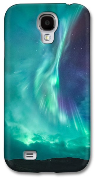 Norway Galaxy S4 Cases - Clouds vs Aurorae Galaxy S4 Case by Tor-Ivar Naess
