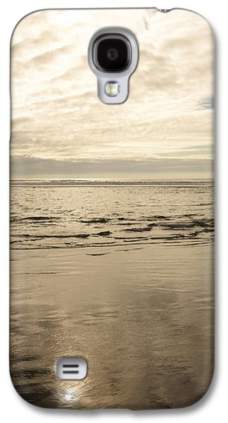 Beach Landscape Galaxy S4 Cases - Cloudy Day Overlooking The Ocean Galaxy S4 Case by Gillham Studios