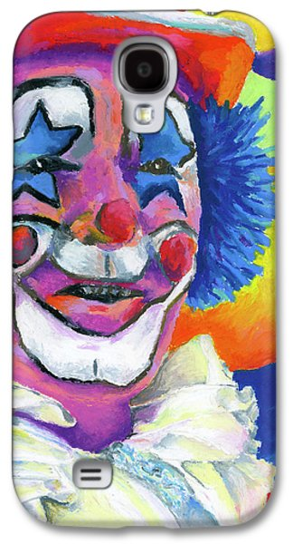 Orange Pastels Galaxy S4 Cases - Clown with Balloons Galaxy S4 Case by Stephen Anderson