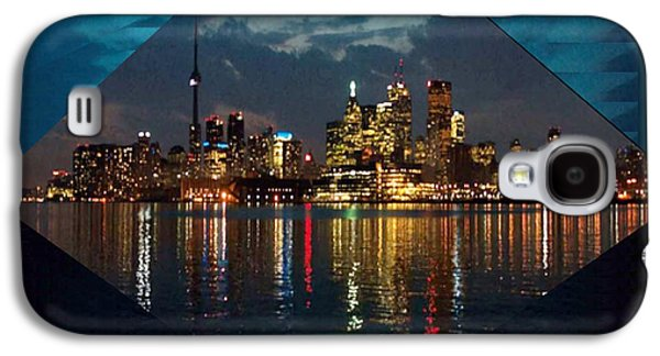 Business Galaxy S4 Cases - CN  Tower and Toronto Down Town Water Front beauty at night Hexagon Poster  Galaxy S4 Case by Navin Joshi