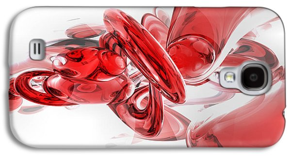 Computer Generated Galaxy S4 Cases - Coagulation Abstract Galaxy S4 Case by Alexander Butler