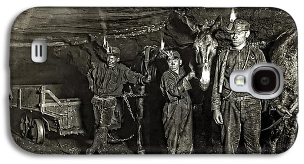 Recently Sold -  - Slavery Galaxy S4 Cases - Coal Mine Mule Drivers  1908 Galaxy S4 Case by Daniel Hagerman