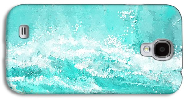 Inspired Paintings Galaxy S4 Cases - Coastal Inspired Art Galaxy S4 Case by Lourry Legarde