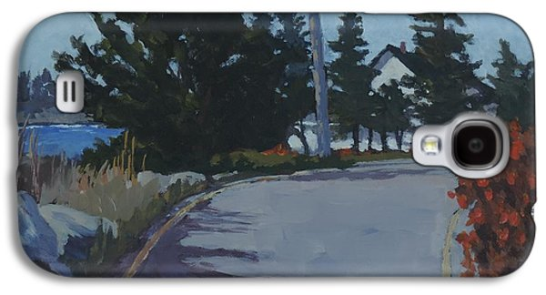 Maine Roads Paintings Galaxy S4 Cases - Coastal Road Galaxy S4 Case by Bill Tomsa