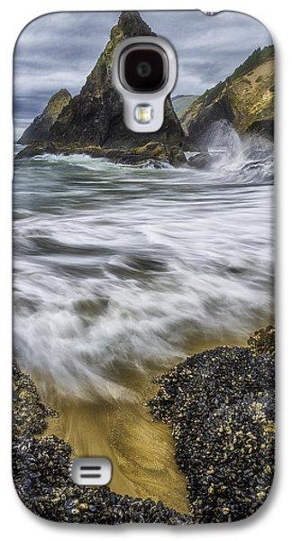 Beach Landscape Galaxy S4 Cases - Coastal Wash Galaxy S4 Case by Darren  White