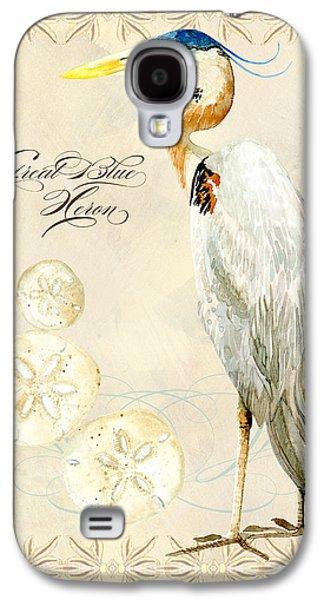 Coastal Waterways - Great Blue Heron Galaxy S4 Case by Audrey Jeanne Roberts