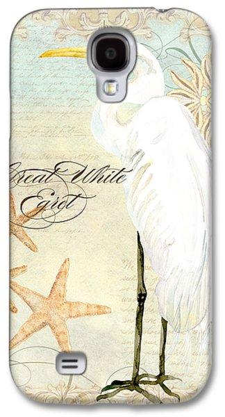 Coastal Waterways - Great White Egret 3 Galaxy S4 Case by Audrey Jeanne Roberts