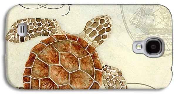 Coastal Waterways - Green Sea Turtle 2 Galaxy S4 Case by Audrey Jeanne Roberts