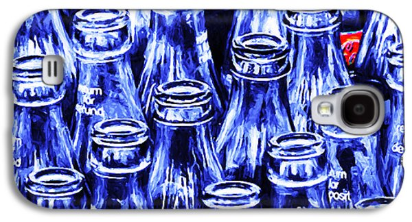 Wing Tong Galaxy S4 Cases - Coca-Cola Coke Bottles - Return For Refund - Square - Painterly - Blue Galaxy S4 Case by Wingsdomain Art and Photography