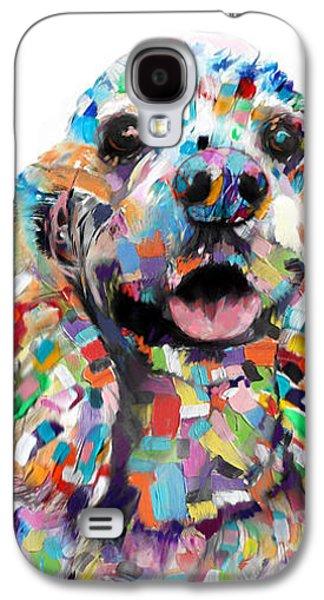 Abstracted Galaxy S4 Cases - Cocker Spaniel Galaxy S4 Case by Enzie Shahmiri