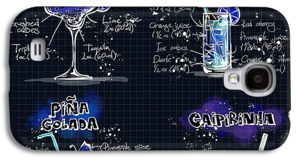 Digital Drawings Galaxy S4 Cases - Cocktail Recipes  Galaxy S4 Case by Alexas Fotos
