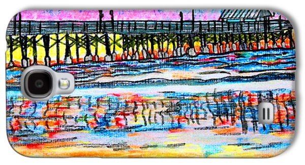 Waterscape Pastels Galaxy S4 Cases - Cocoa Beach Pier Galaxy S4 Case by W Gilroy