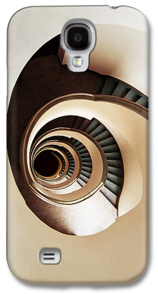 Business Galaxy S4 Cases - Coffee and milk spiral staircase Galaxy S4 Case by Jaroslaw Blaminsky