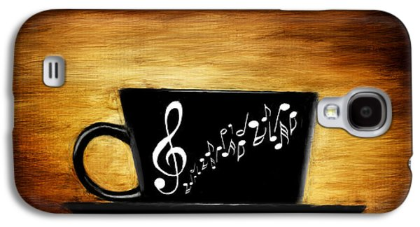 Espresso Galaxy S4 Cases - Coffee And Music Galaxy S4 Case by Lourry Legarde