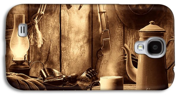 Selenium Galaxy S4 Cases - Coffee at the Cabin Galaxy S4 Case by American West Legend By Olivier Le Queinec
