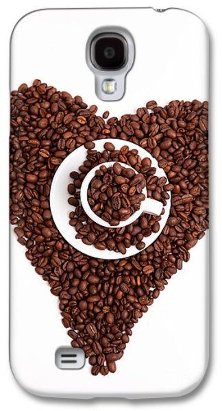 Empty Galaxy S4 Cases - Coffee Heart Galaxy S4 Case by Nailia Schwarz
