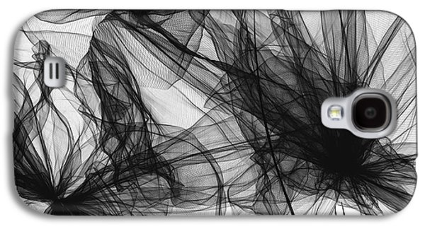 Coherence - Black And White Modern Art Galaxy S4 Case by Lourry Legarde