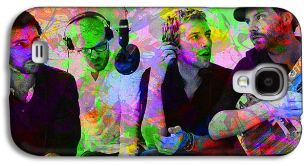 Coldplay Band Portrait Paint Splatters Pop Art Galaxy S4 Case by Design Turnpike