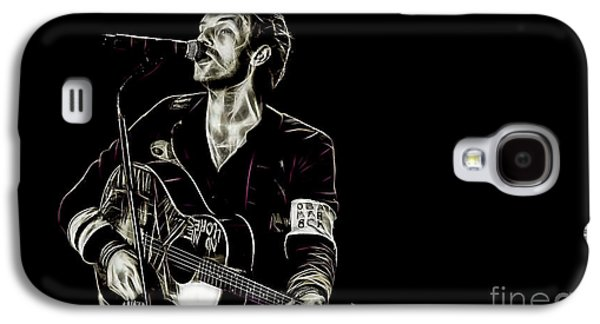 Coldplay Galaxy S4 Cases - Coldplay Collection Chris Martin Galaxy S4 Case by Marvin Blaine