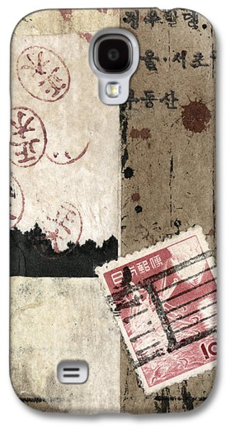 Collage Envelope Detail Hanko Galaxy S4 Case by Carol Leigh