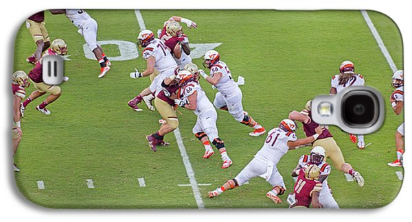College Football Vt And Boston College Galaxy S4 Case by Betsy Knapp