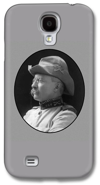 America Mixed Media Galaxy S4 Cases - Colonel Roosevelt Galaxy S4 Case by War Is Hell Store