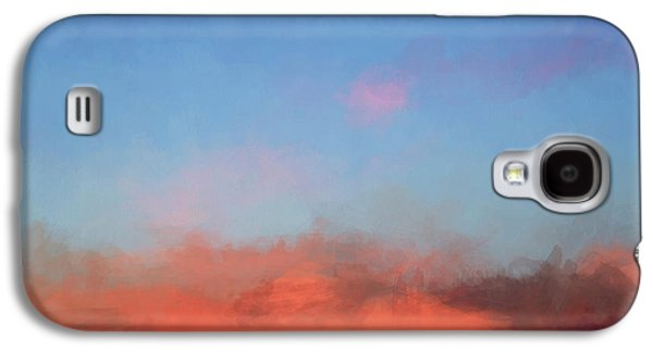 Color Abstraction Xlvii - Sunset Galaxy S4 Case by David Gordon