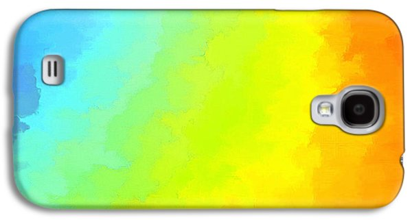 Abstract Digital Galaxy S4 Cases - Color Me Happy Galaxy S4 Case by Krissy Katsimbras