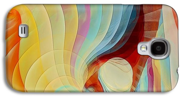 Fractal Pastels Galaxy S4 Cases - Color my Dreams Galaxy S4 Case by Gayle Odsather