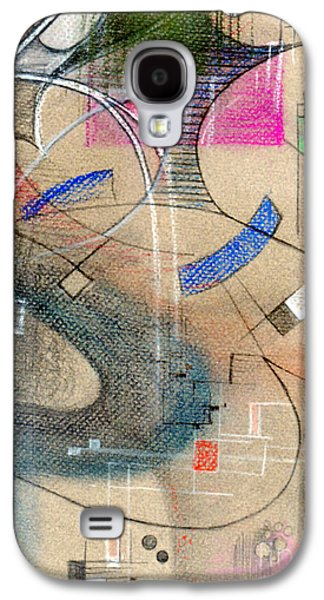 Colored Pencil Paintings Galaxy S4 Cases - Color Pencil Abstract On Pastel Paper Galaxy S4 Case by Genevieve Esson
