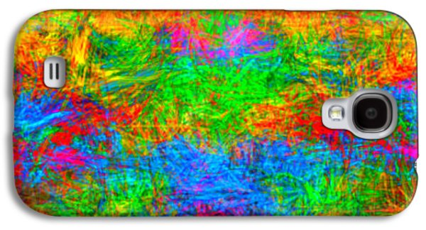 Abstract Digital Paintings Galaxy S4 Cases - Colorful Abstract Mural Galaxy S4 Case by Bruce Nutting