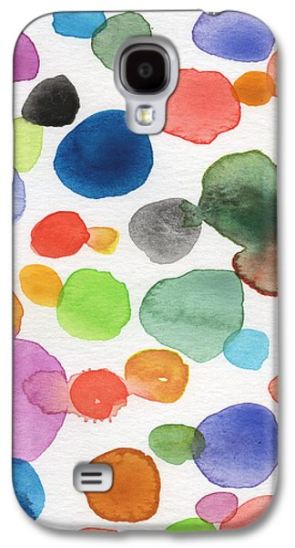 Abstracted Galaxy S4 Cases - Colorful Bubbles Galaxy S4 Case by Linda Woods