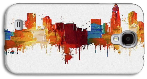 Colorful Charlotte Skyline Silhouette Galaxy S4 Case by Dan Sproul