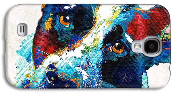 Dog Pop Art Galaxy S4 Cases - Colorful Dog Art - Irresistible - By Sharon Cummings Galaxy S4 Case by Sharon Cummings