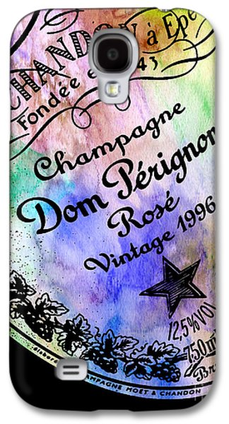 Sparkling Rose Galaxy S4 Cases - Colorful Dom Perignon Galaxy S4 Case by Jon Neidert