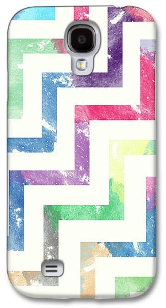 Colorful Geometric Patterns Vi Galaxy S4 Case by Amir Faysal