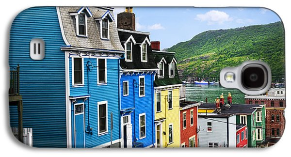 Quaint Photographs Galaxy S4 Cases - Colorful houses in St. Johns Galaxy S4 Case by Elena Elisseeva