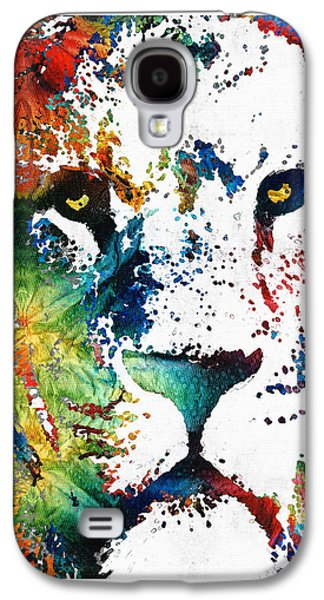 Kids Sports Art Galaxy S4 Cases - Colorful Lion Art 2 by Sharon Cummings Galaxy S4 Case by Sharon Cummings
