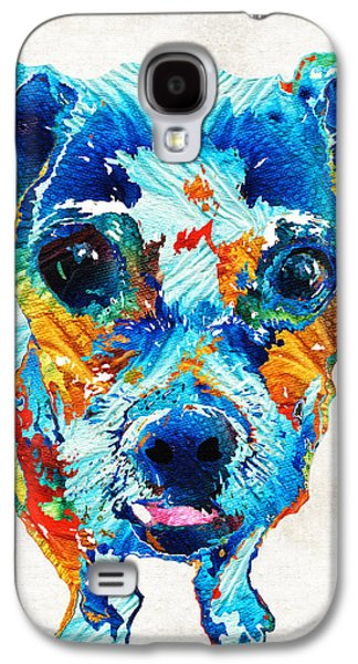 Poodle Galaxy S4 Cases - Colorful Little Dog Pop Art by Sharon Cummings Galaxy S4 Case by Sharon Cummings