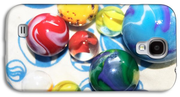 Marble Eye Galaxy S4 Cases - Colorful Marbles Galaxy S4 Case by Colleen Kammerer