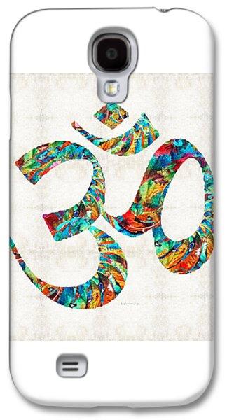 Colorful Om Symbol - Sharon Cummings Galaxy S4 Case by Sharon Cummings