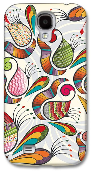 Colorful Paisley Pattern Galaxy S4 Case by Famenxt DB