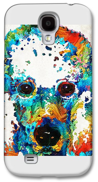 Poodle Galaxy S4 Cases - Colorful Poodle Dog Art by Sharon Cummings Galaxy S4 Case by Sharon Cummings