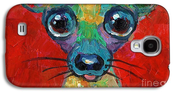 Toy Dog Galaxy S4 Cases - Colorful Pop art chihuahua painting Galaxy S4 Case by Svetlana Novikova