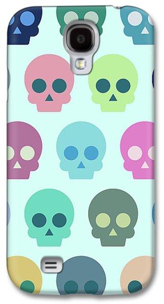 Colorful Skull Cute Pattern Galaxy S4 Case by Amir Faysal