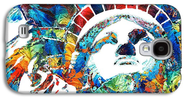 Colorful Statue Of Liberty - Sharon Cummings Galaxy S4 Case by Sharon Cummings
