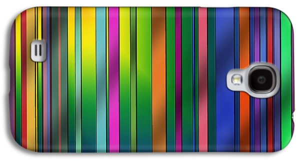 Colorful Abstract Drawings Galaxy S4 Cases - Colorful Stripes Galaxy S4 Case by Chuck Staley